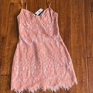 Express Lace Dress light pink